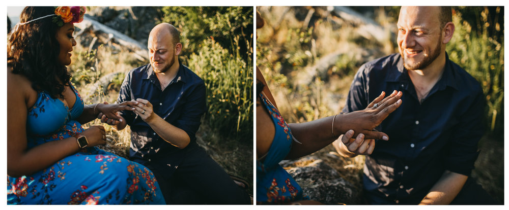 engagement ring proposal couple love whytecliff