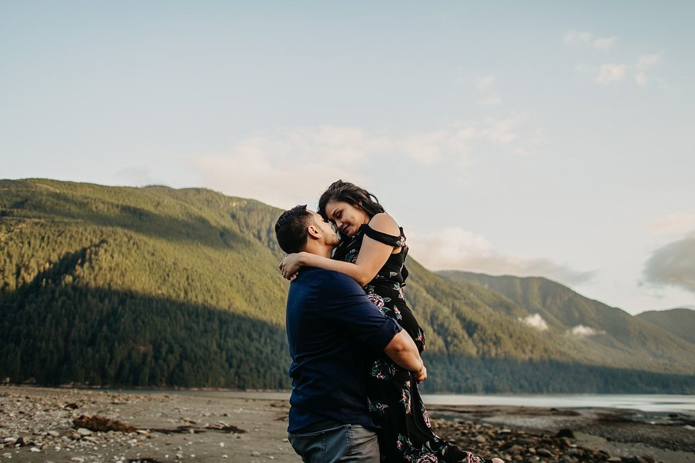 Copy of mountains couple hug engaged