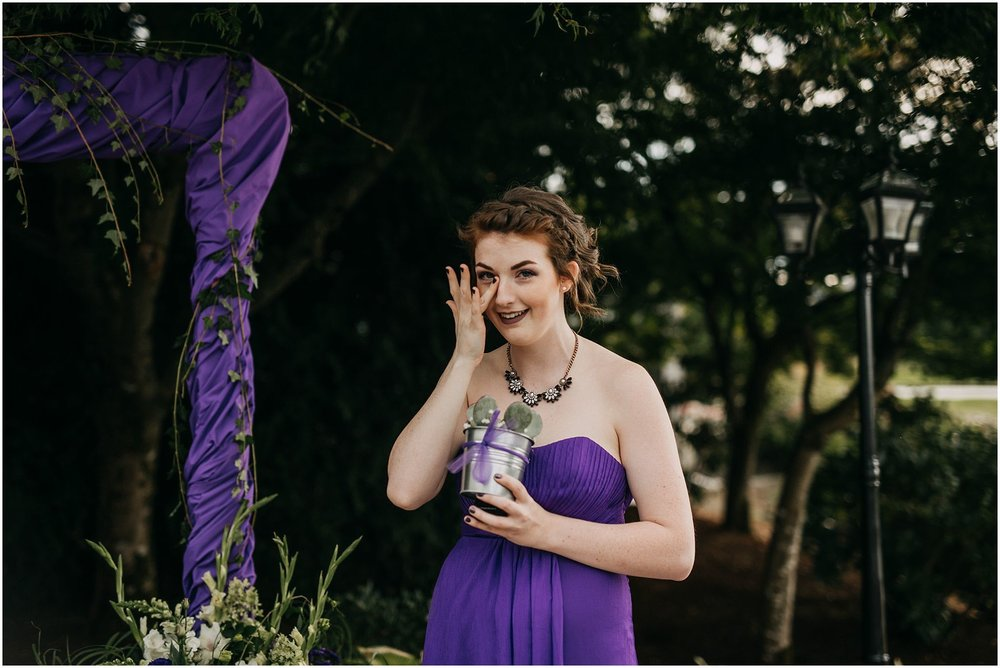 maid of honour reaction wedding ceremony pitt meadows