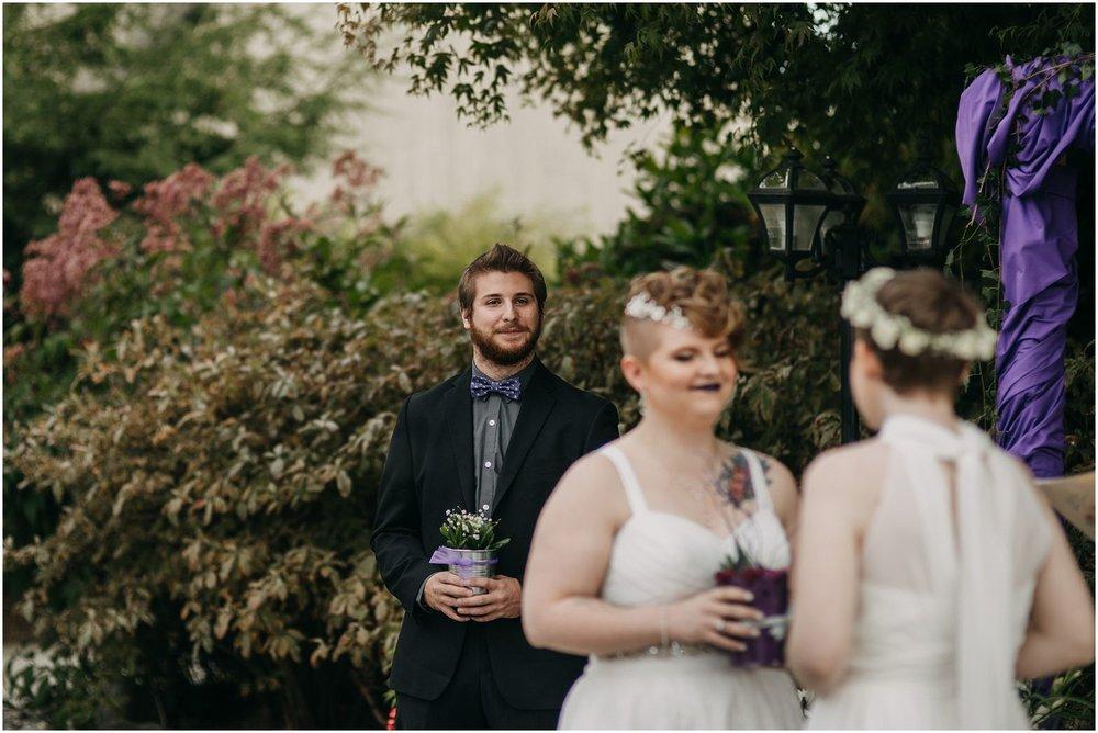 brother of bride reaction wedding ceremony