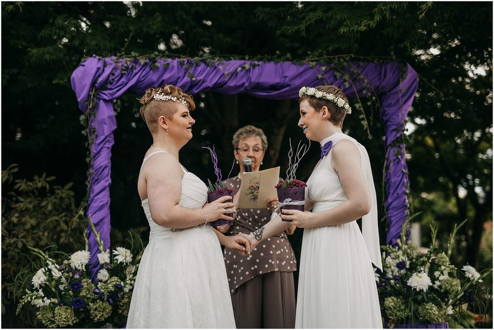same sex couple vow exchange wedding ceremony pitt meadows