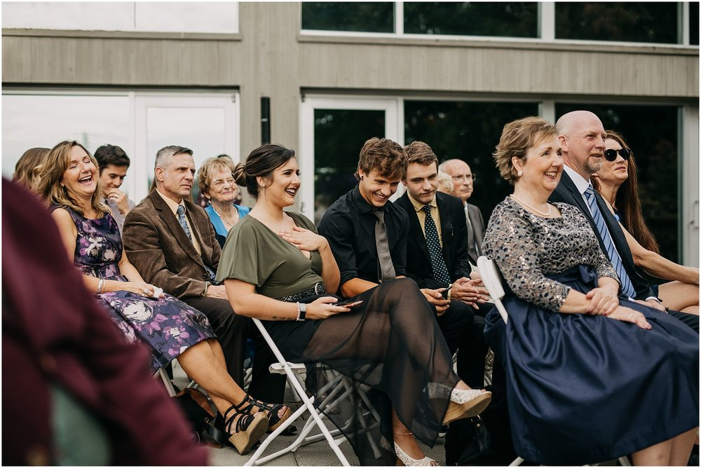 guests reaction at wedding ceremony pitt meadows