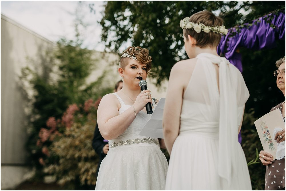 bride exchanging vows pitt meadows wedding ceremony