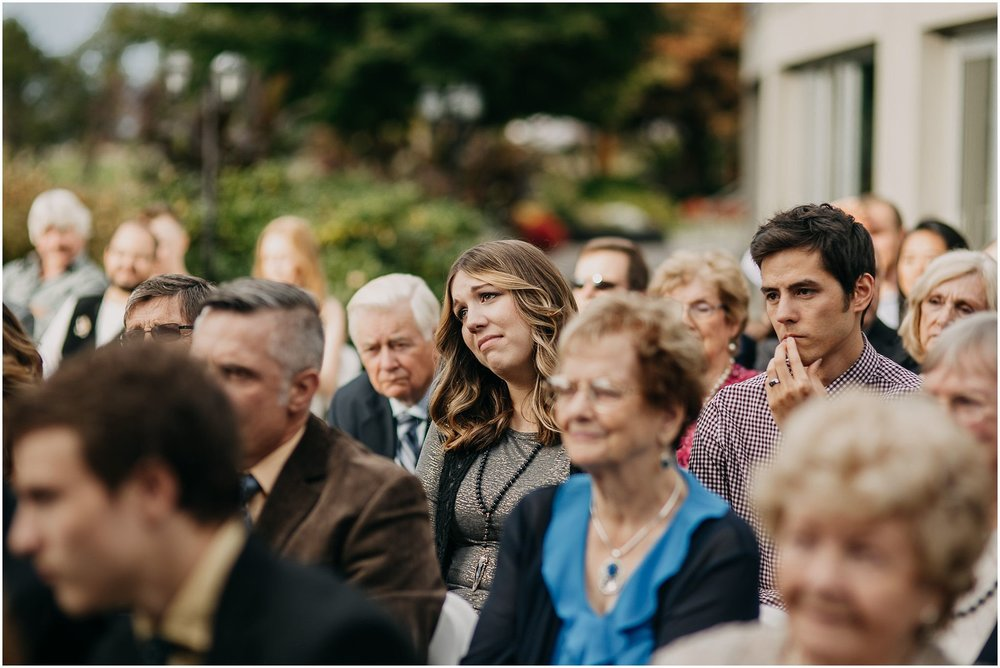 guest reaction crying wedding ceremony pitt meadows
