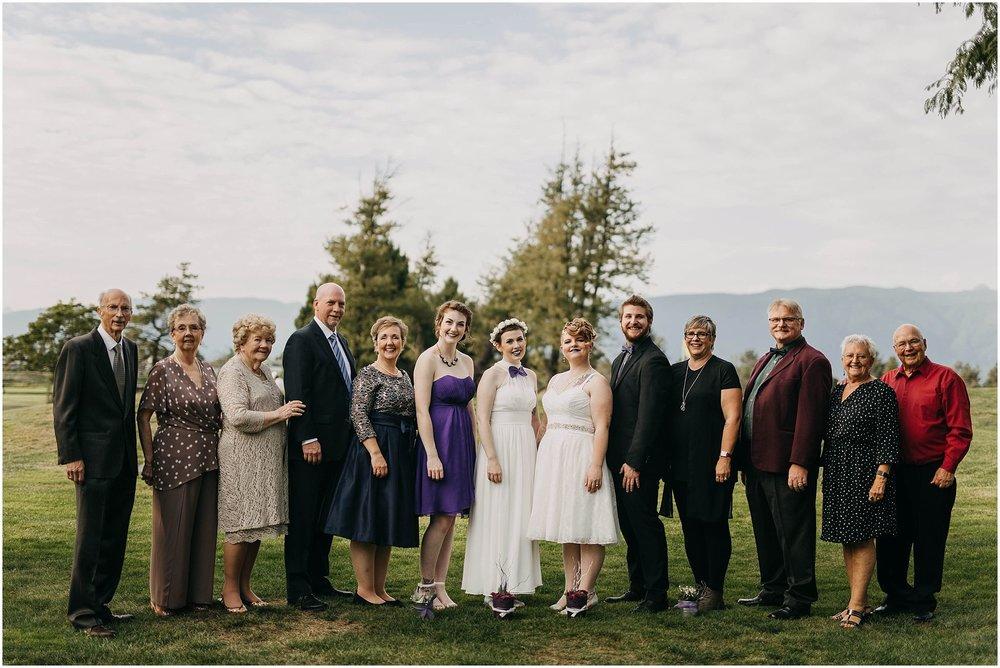 pitt meadows wedding same sex couple family photo