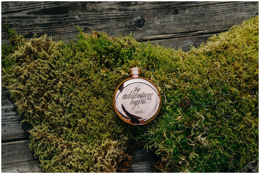 bride wedding flask gift fraser river lodge wedding