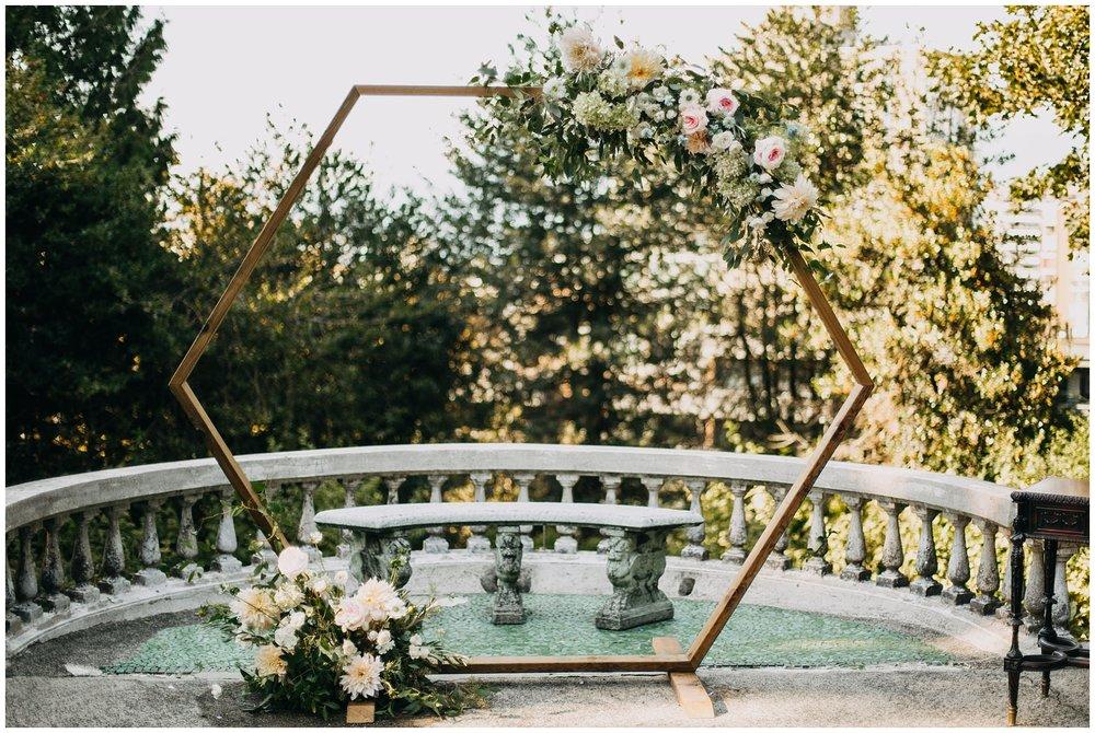 ceremony arch decor at hycroft manor wedding