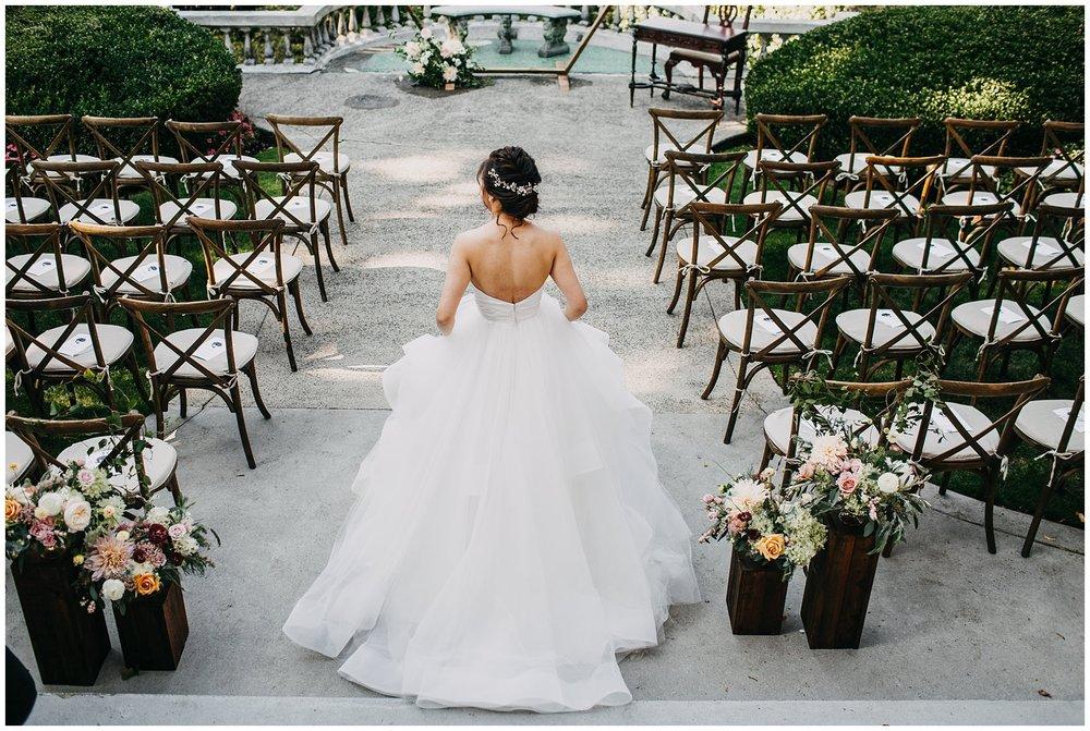 bride walking down aisle at hycroft manor wedding