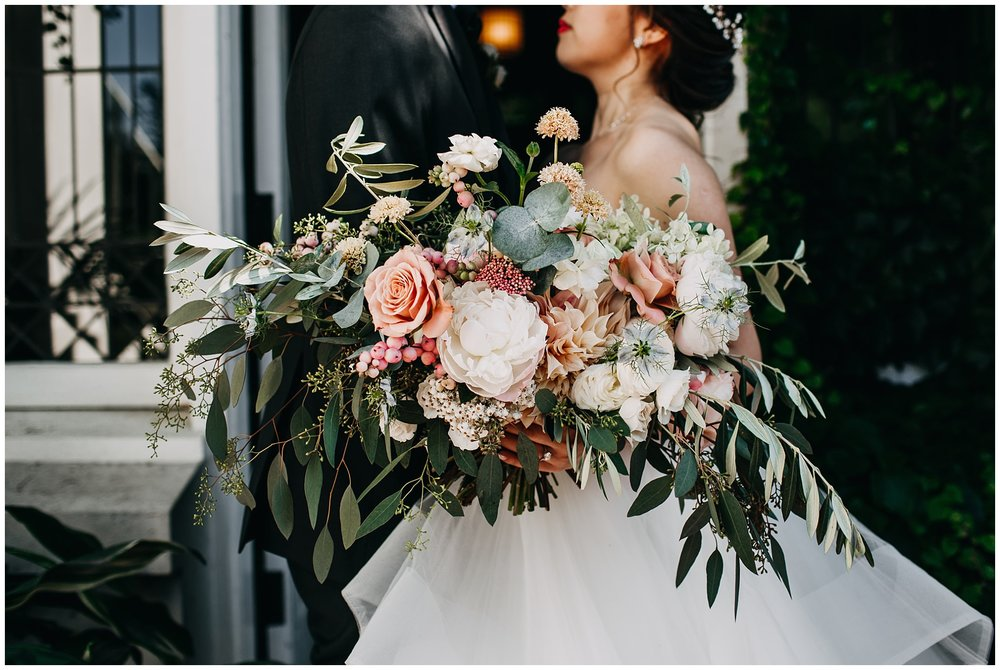 celsia floral bridal bouquet at vancouver wedding