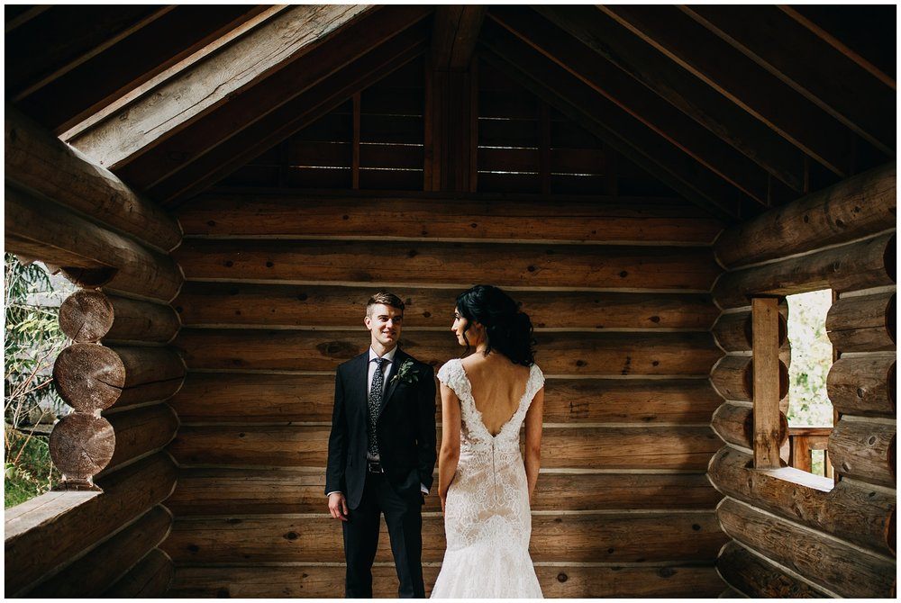 bride and groom portrait at whistler elopement