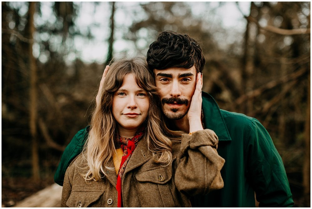 70s inspired engagement session at jericho beach vancouver
