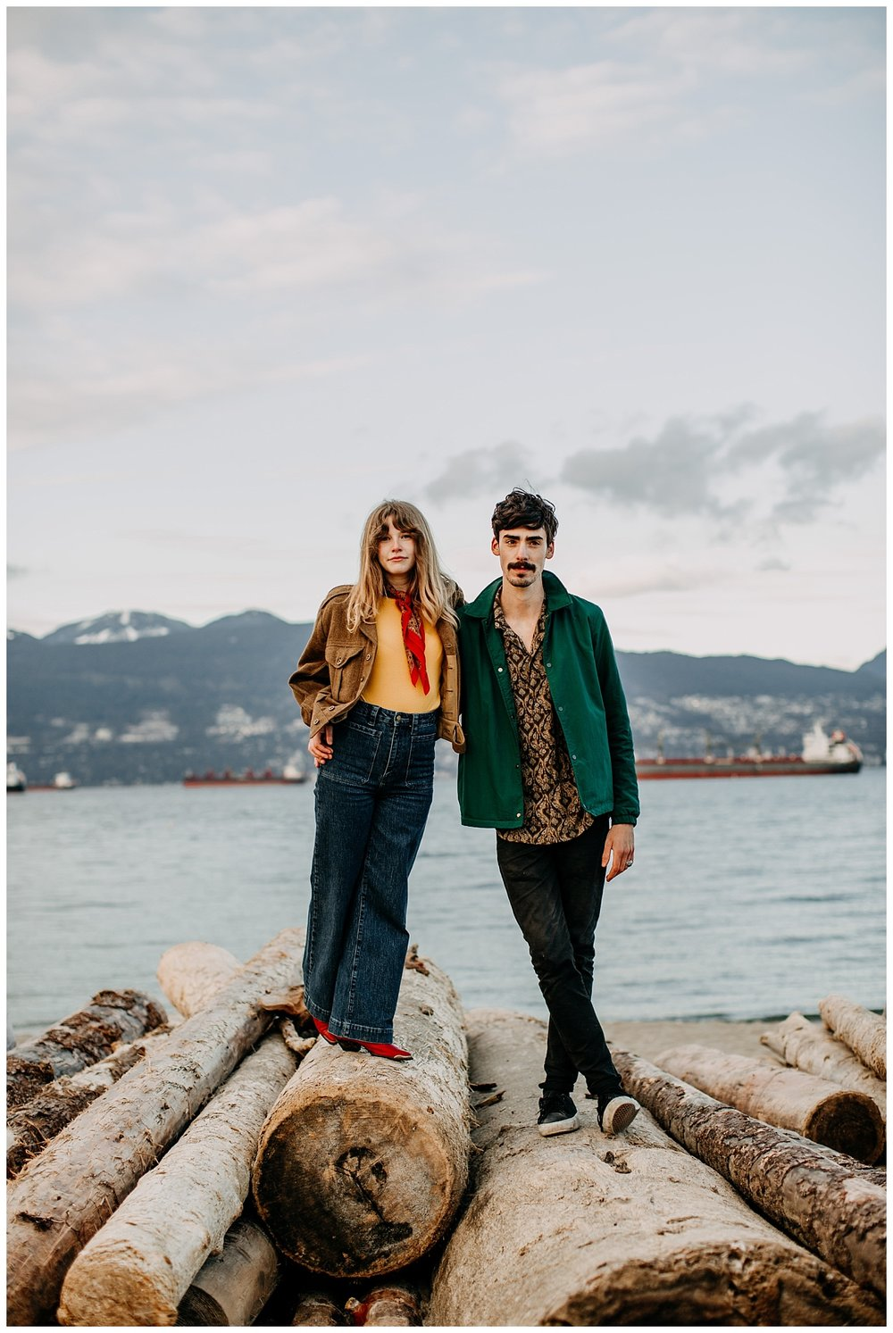 hip cool 70s inspired engagement session at jericho beach