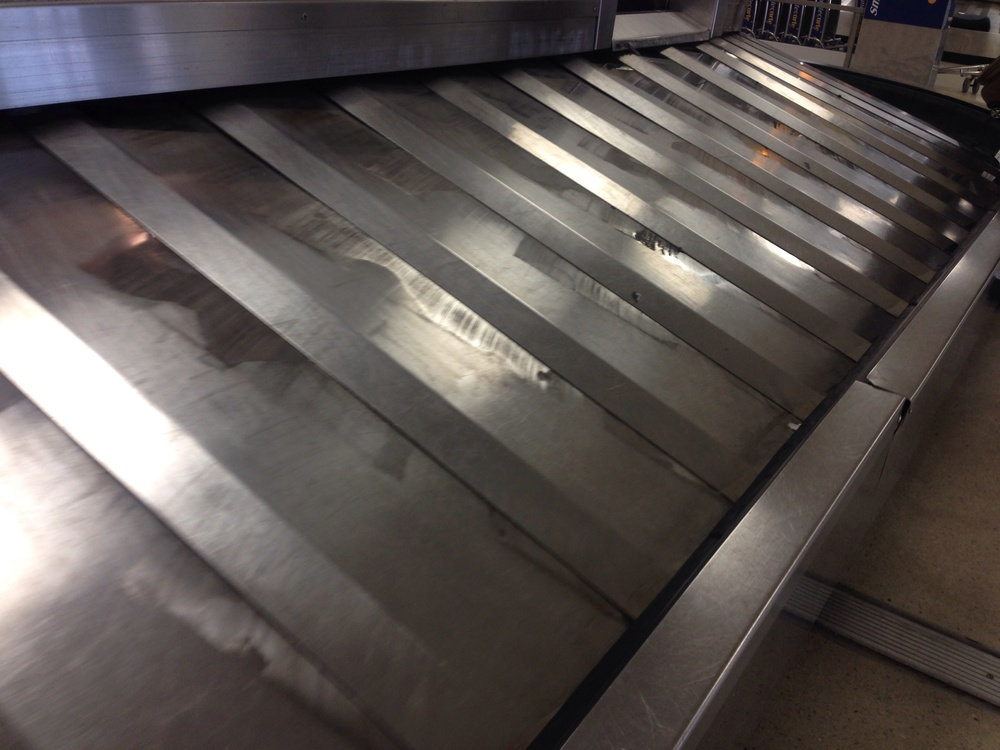 Waiting at baggage claim!