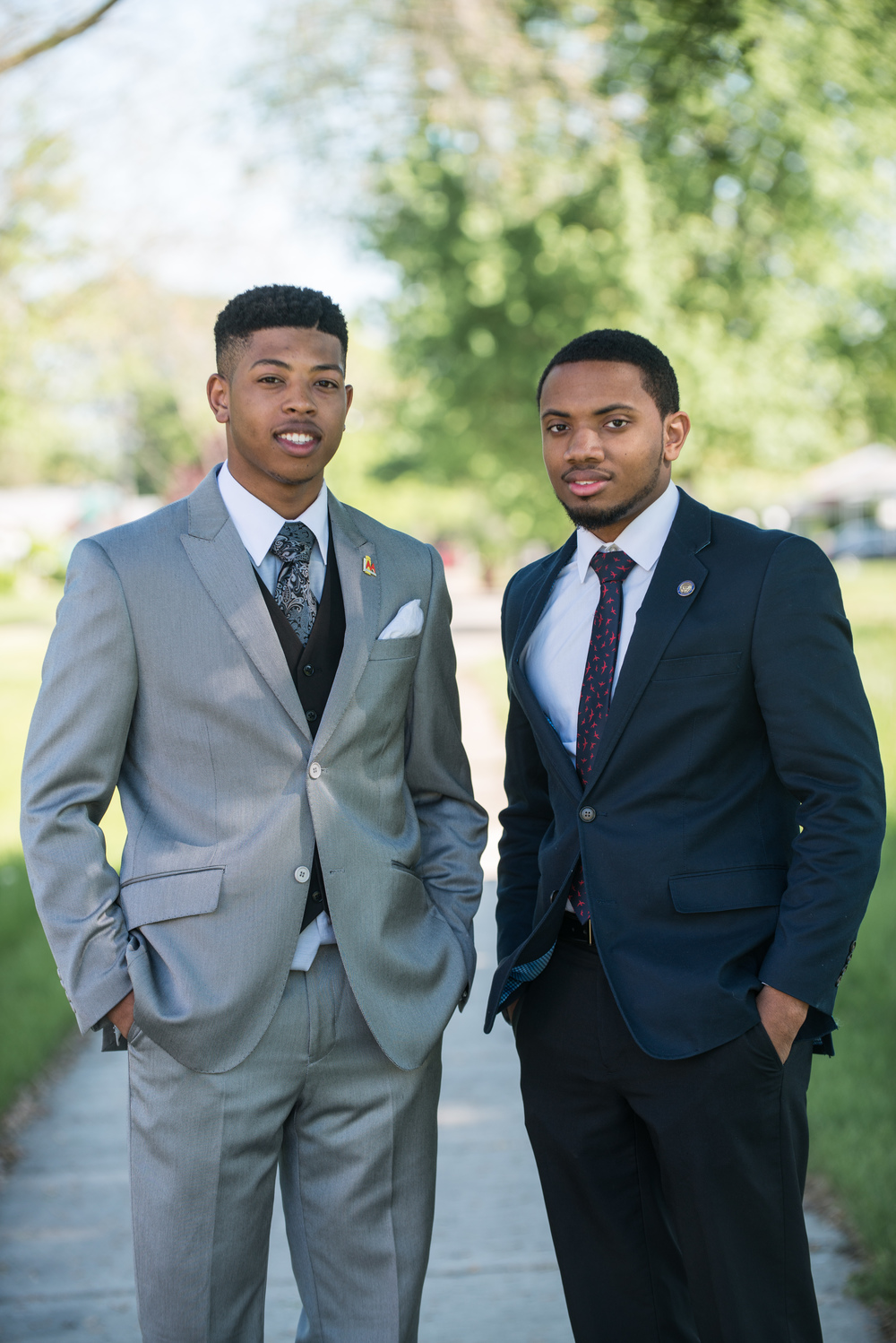 Jewell Jones  (l) and  Javion Johnson  (r).  Photo Credit:   Jeremy Cranford