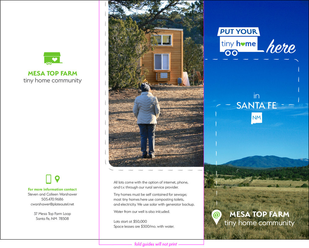 Trifold Brochure -Exterior (Flat View - Not Folded) - Click Image to Enlarge