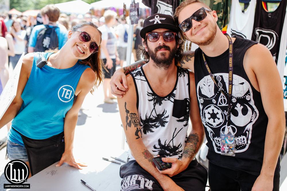 Carol, Matty, and Justin of Miss May I