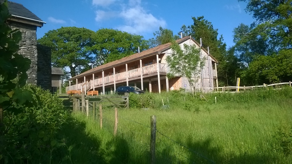 Pilates-weekend-accommodation-sustainable-wood-eco-lodge-blue-skies-Wales