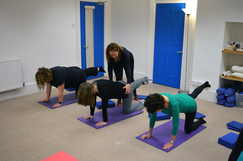 Pilates Table Top exercise for alignment, core strength and balance. Clifton, Bristol