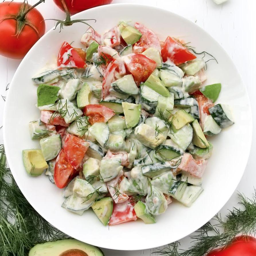 Avocado Tomato Cucumber Salad —Salad Menu