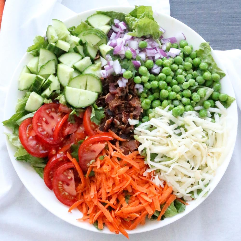 mixed garden salad with ranch dressing salad menu - Garden Salad Recipe