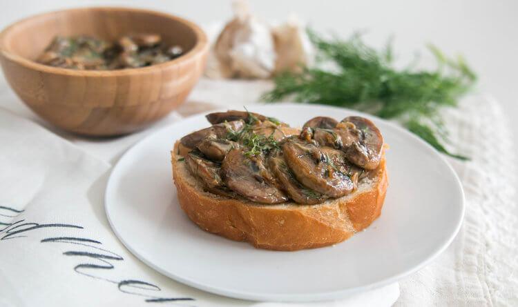 Delicious Mushroom Toast