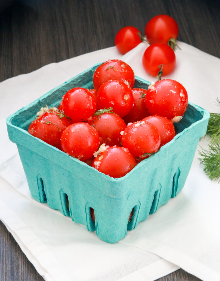 A plate of Marinated Tomatoes