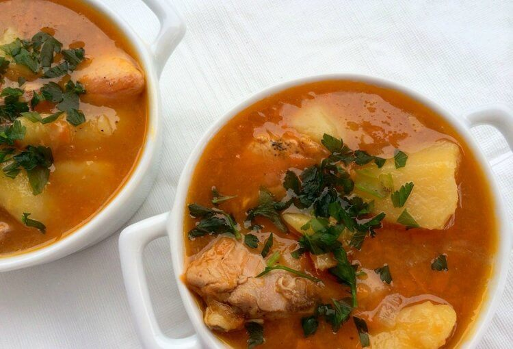 One-Pot Stovetop Chicken Soup With Potato