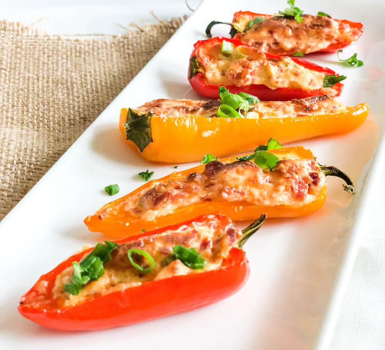 Cream Cheese Filled Bell Peppers