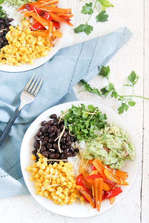 Veggie Rice Bowl with Guacamole