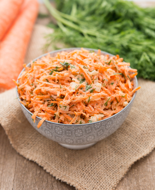 A plate of Quick Carrot Salad