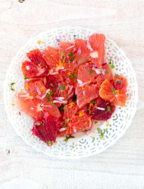 Citrus Salad with Pomegranate Vinaigrette
