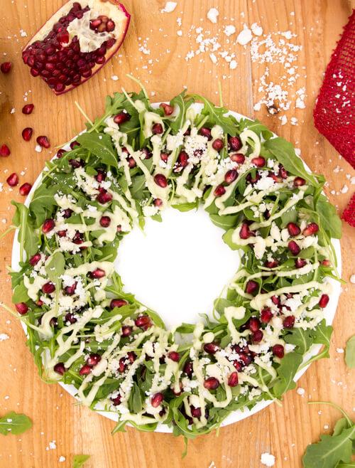 A christmas wreath salad