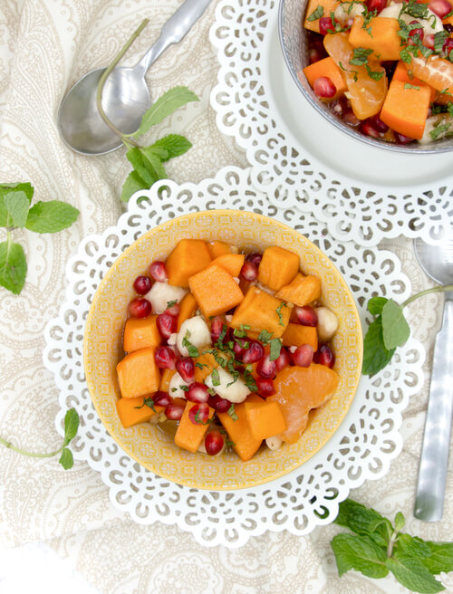 A plate of sweet fall dessert salad for the holidays