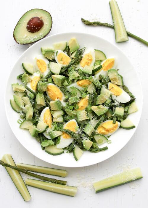 A plate of  Asparagus Salad