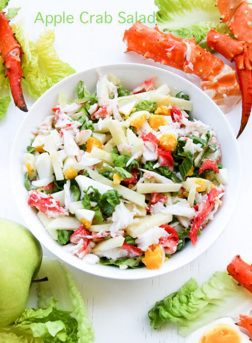 A plate of  Apple Crab Salad