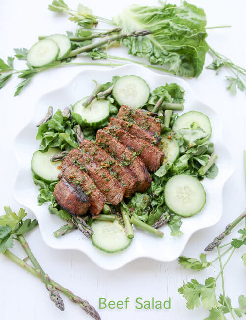 A plate of  Beef Salad