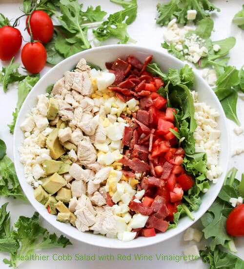 A plate of Healthier Cobb Salad