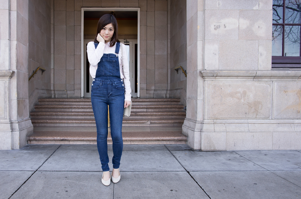 Top:Forever21, Overall:$30, Flat:Gucci, Photo:G