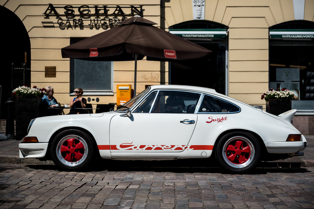 Porsche in the streets of Helsinki, Finnland