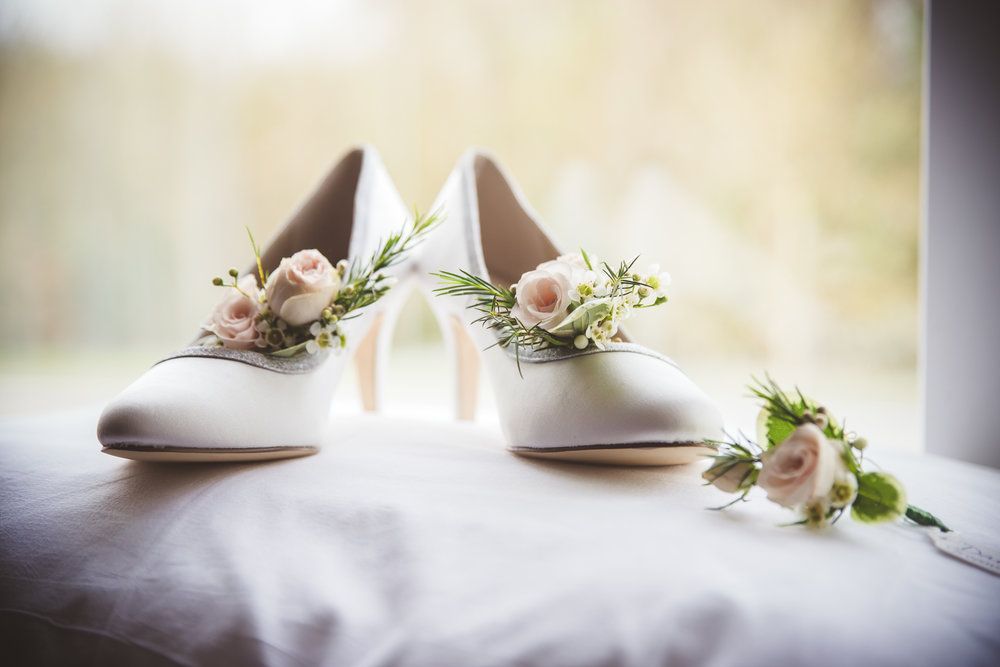 Samantha's wedding shoes