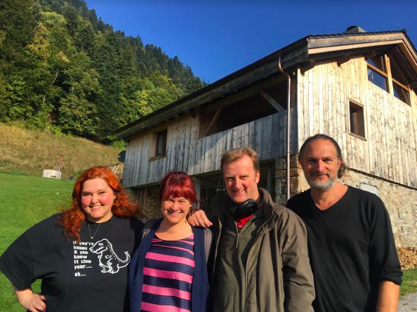 Dawn Kurtagich, Holly, Mark Stay, Marcus Sedgwick. Geneva, September 2018