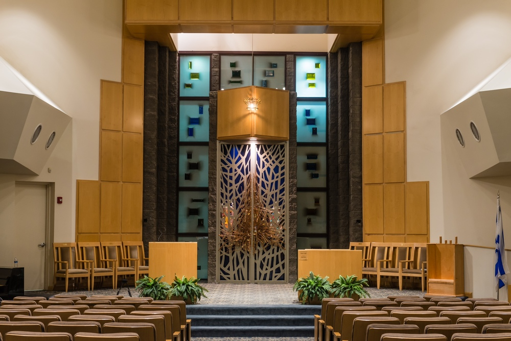Existing sanctuary at Congregation Beth Israel