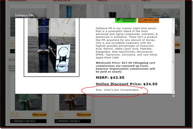 BlackBox Cosmetics Product Size