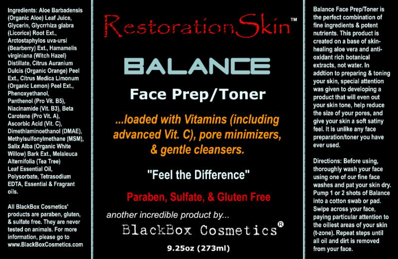 BlackBox Cosmetics Balance Toner