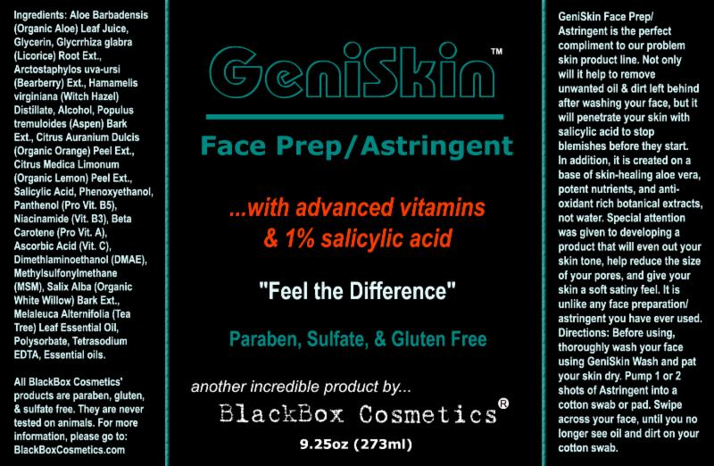 BlackBox Cosmetics Geniskin toner