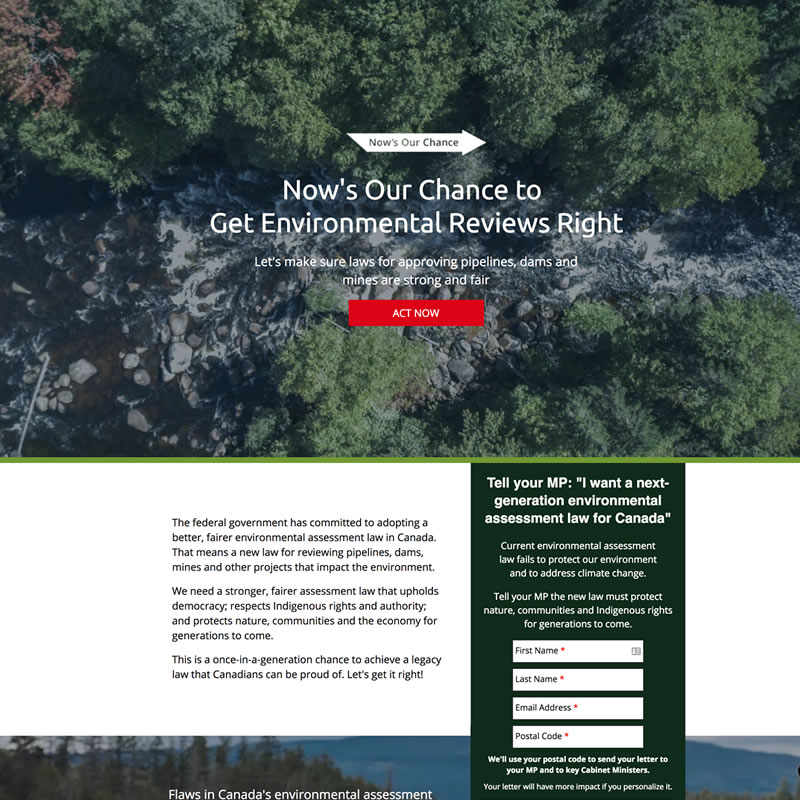Online Coalition Building for Environmental Law Reform
