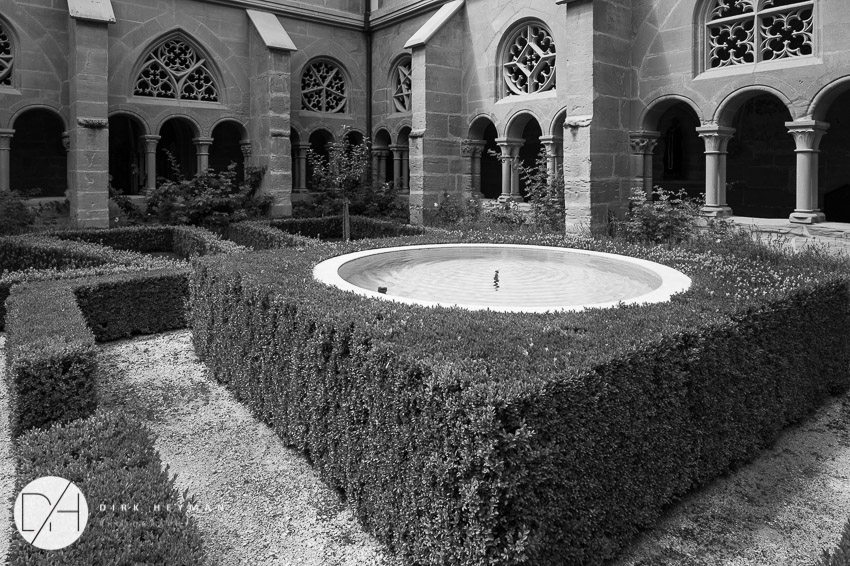 Fountain and garden designed by Jacques Wirtz