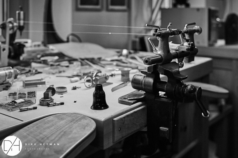Atelier de  Philippe Dufour © Dirk Heyman