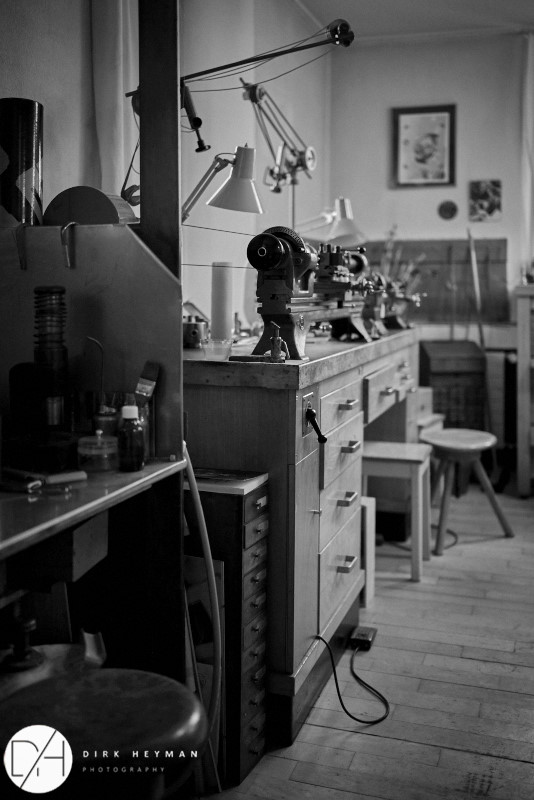 Entré de l'Atelier de  Philippe Dufour © Dirk Heyman