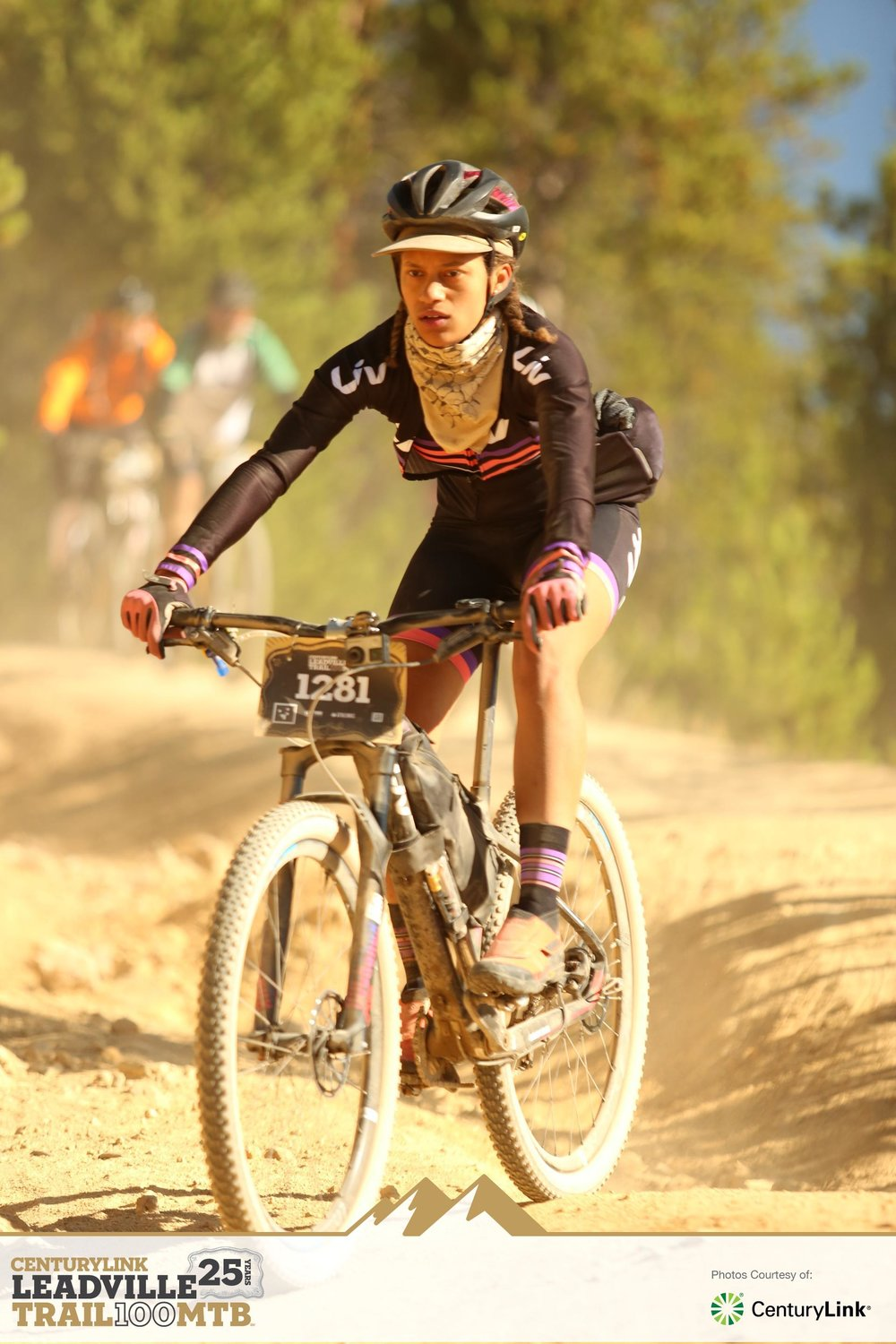 Sam taking on Leadville on her Single speed Liv Mountain Bike.